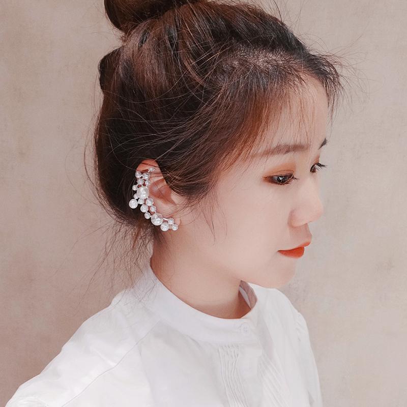 设计师小众s925银针珍珠韩国耳骨夹(用1元券)