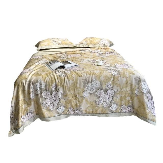 经典美式春秋80支LF天丝绸缎床品凉爽丝滑超柔床单被套夏被四件套