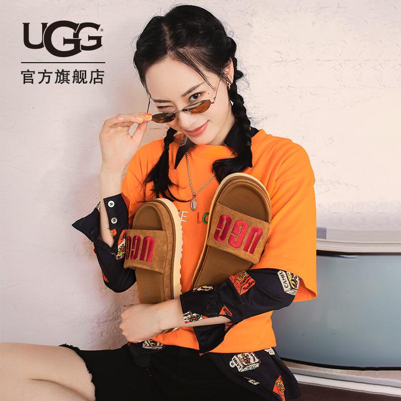 UGG2021夏季女士凉鞋厚底简约时尚沙滩凉拖鞋 1110110