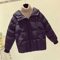 加肥特大码女装冬新款韩版胖妹妹羽绒棉服保暖显瘦棉袄200斤外套