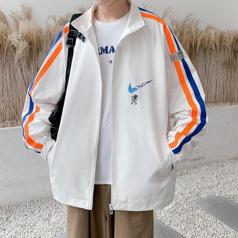 2021新款港风男式休闲简约百搭时尚印花夹克外套A110-JK814-P85