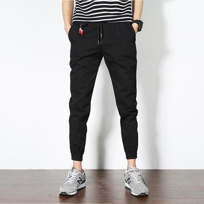 2018春款 森地板 A110-233-P35 100棉 日系潮男哈伦裤 束脚休闲裤
