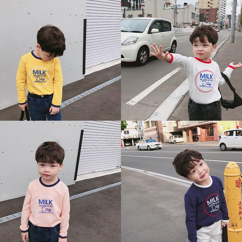源源家男童长袖t恤儿童童装打底衫需要用券