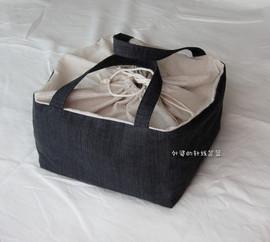 手工布艺DIY 和风便当袋 收纳袋 束口袋 饭盒袋 棉麻 布料