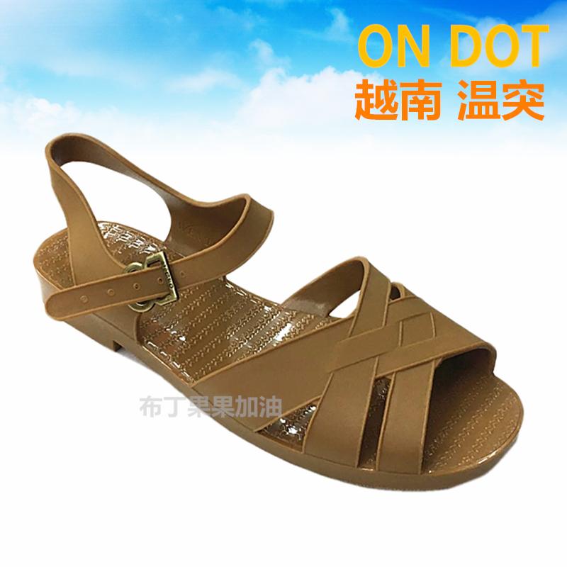 假一赔十越南男士凉鞋温突老式复古沙滩鞋防水防臭塑料罗马橡胶南巴军鞋夏