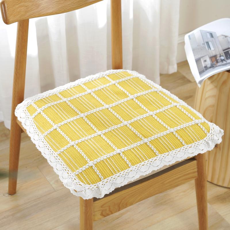 定做夏季棉麻布艺学生汽车椅子垫