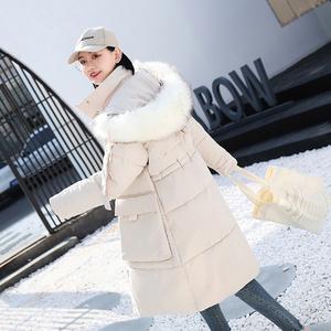 实拍19羽绒棉服女韩版中长款宽松棉衣大口袋外套ins 网红 速卖通