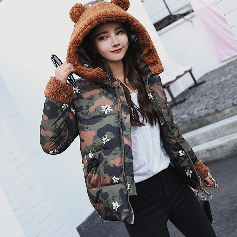 大量现货 支持大型活动 实拍2017新款秋冬羽绒棉服女韩版短款