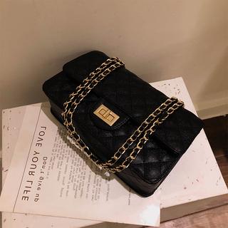 小包包女2020新款小ck菱格链条包真皮风琴褶皱包女包小方包斜挎包