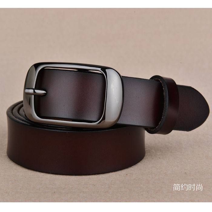 Womens leather belt, mens leather belt, leather belt, simple and versatile