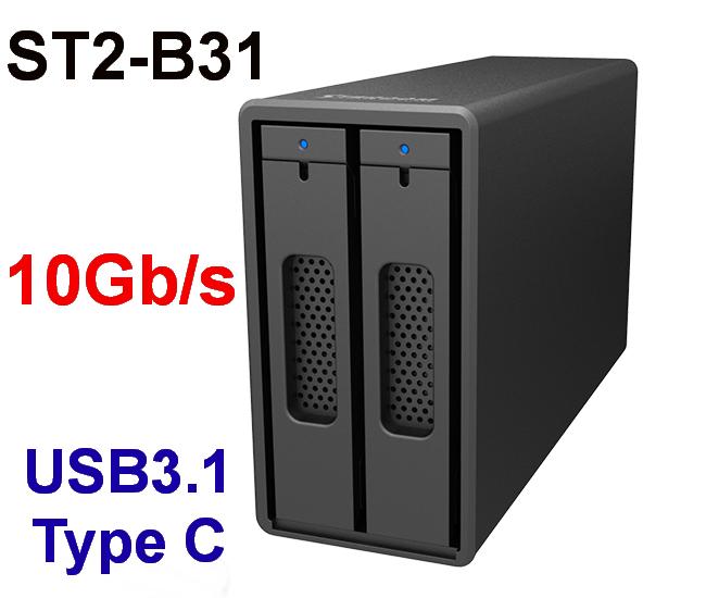 Бесплатная доставка Stardom ST2-B31 USB3.1 Gen2 10Gb/s магнитный блюдо передний строка кабинет алюминиевых сплавов шасси