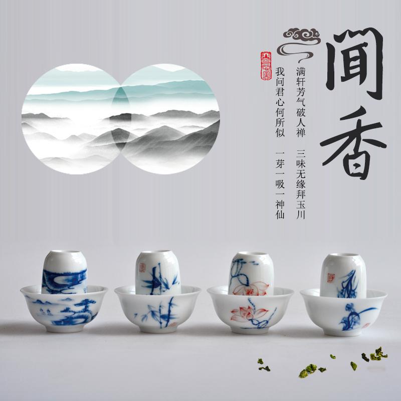 Вид мораль город ручной работы ручная роспись усилие чашка один кубок чай чашка фарфор глазурь запах ладан чашка статья чайный куст кубок костюм керамика