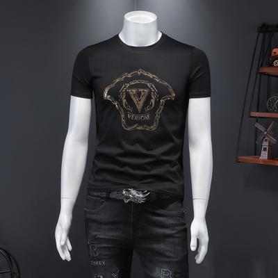 大码5XL 夏季男士T恤 丝光棉短袖 货号:8020 P65 控118 假模
