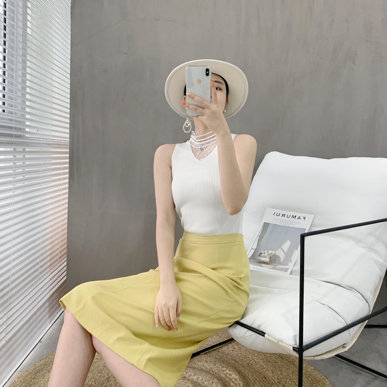 2020新款吊帶背心女無袖上衣夏季外穿性感蕾絲冰絲薄款內搭打底衫