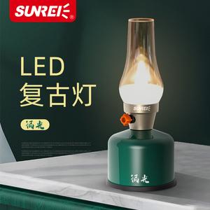 户外复古烛灯环保便携照明气灯露营用品氛围灯无极调节LED烛光灯