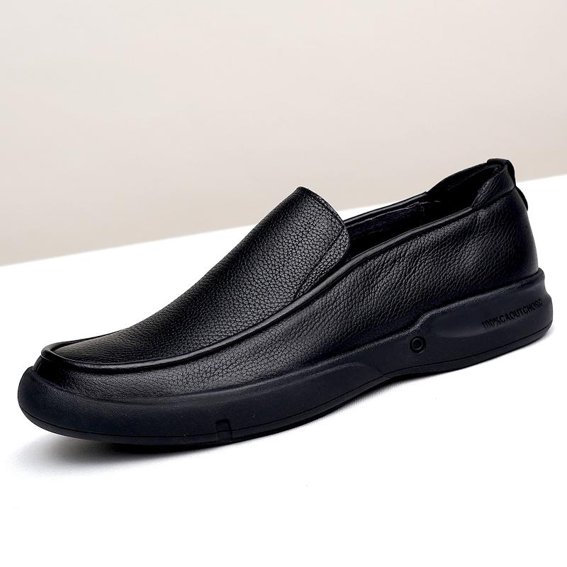 SDEP男士头层牛皮大码小码软面软底男鞋舒适耐磨厚底商务休闲皮鞋限10000张券