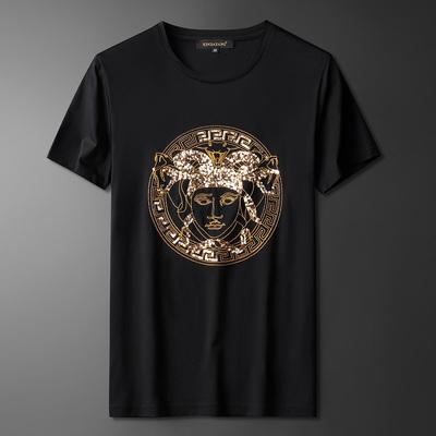 男士刺绣短袖t恤修身打底衫半袖2921p70