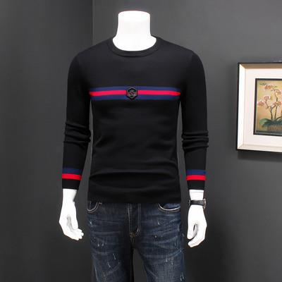 d222 男士羊毛衫打底衫圆领1832/p125黑色jp222