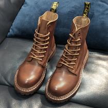 CR162DZ0厚底增高短筒靴子机车靴潮ins冬新款马丁靴女2020天美意