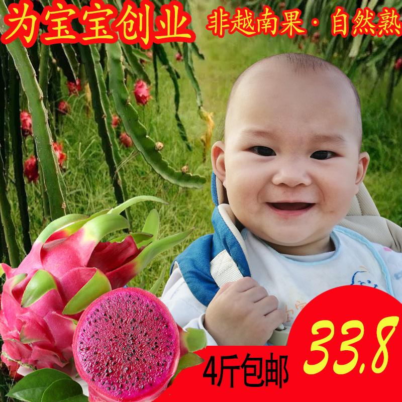 【现摘特价】红肉红心绿色健康火龙果热销3件假一赔三