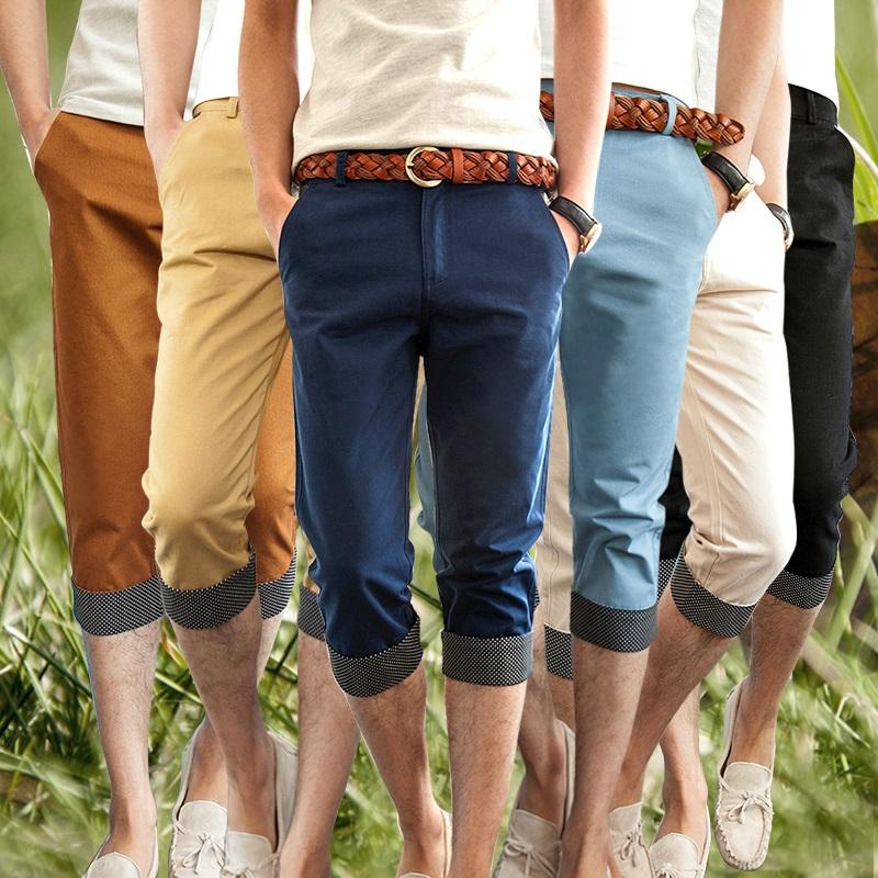 JVR 2015 летние мужские брюки тонкий досуг корейский из семи шорты брюки прилива мужчин из семи мужчин брюки