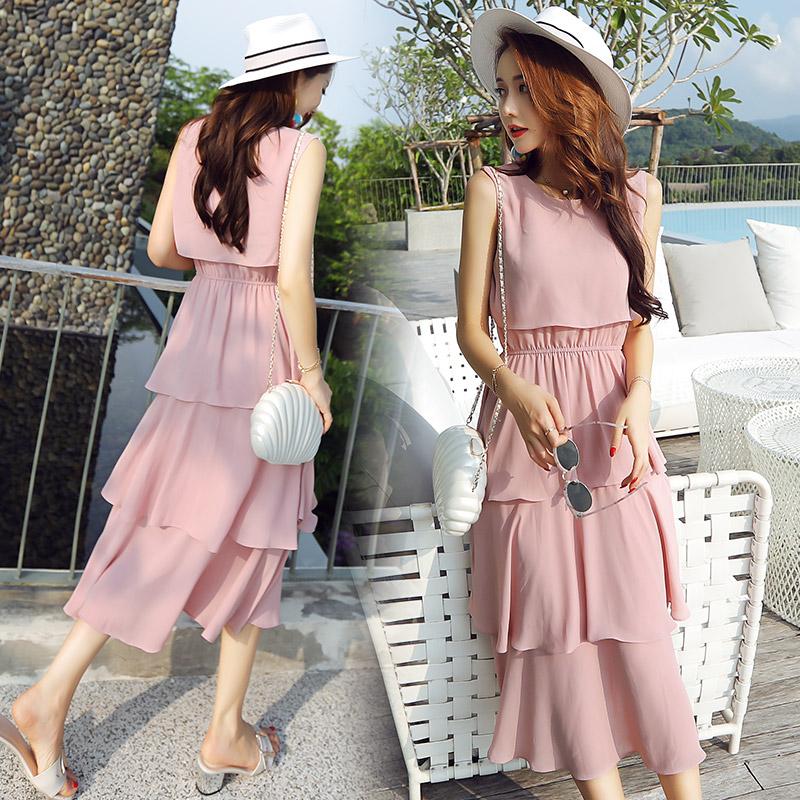 矮个子夏季连衣裙搭配娇小套装女装生xs长裙裙子155短款150cm显高(用1元券)