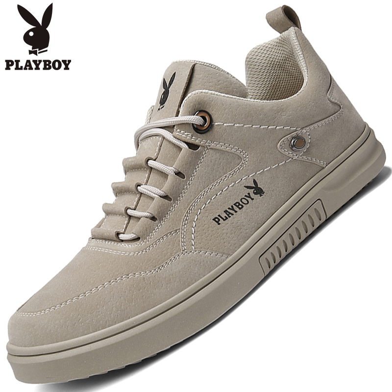 Playboy men's shoes winter trendy shoes 2020 new leather shoes men's trend all-match casual travel shoes