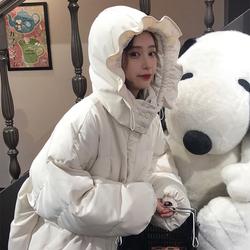 韩版棉袄2020年新款棉服女可爱宽松bf冬季面包服加厚学生棉衣外套