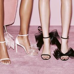 凉鞋女细跟2021新款欧美露趾宴会走秀蝴蝶结仙女风一字带高跟婚鞋