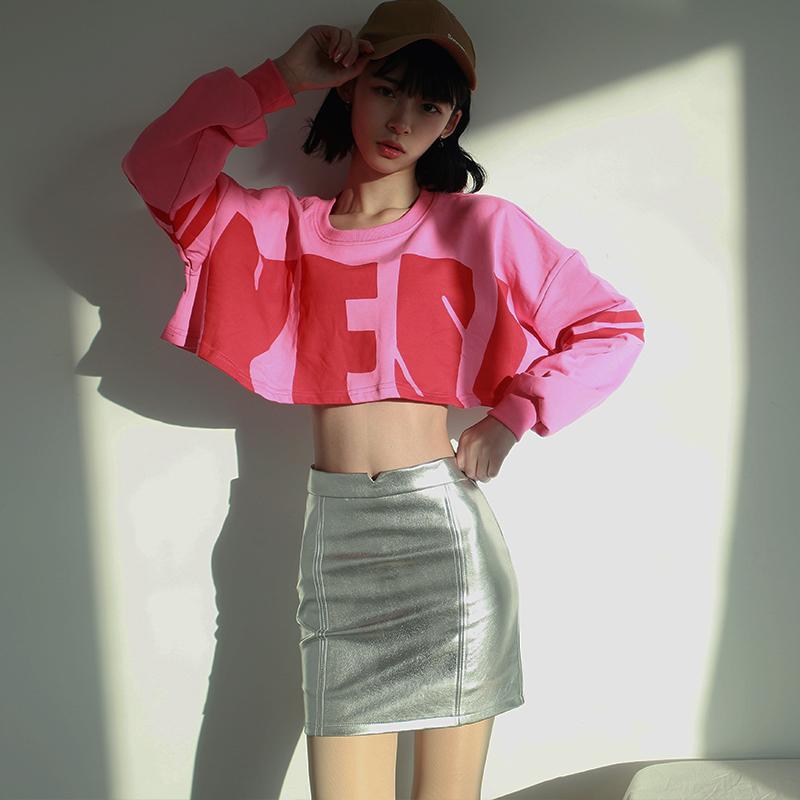 Leather skirt skirt for womens new Korean version of 2019