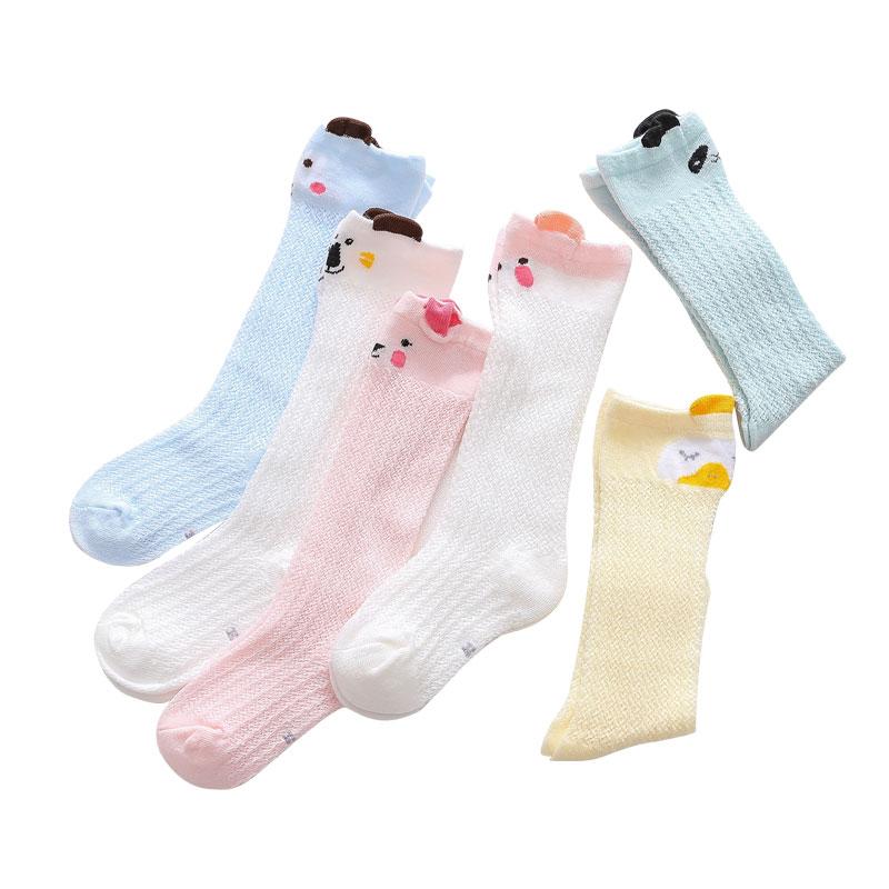 夏季纯棉长筒过膝防蚊袜婴儿袜子
