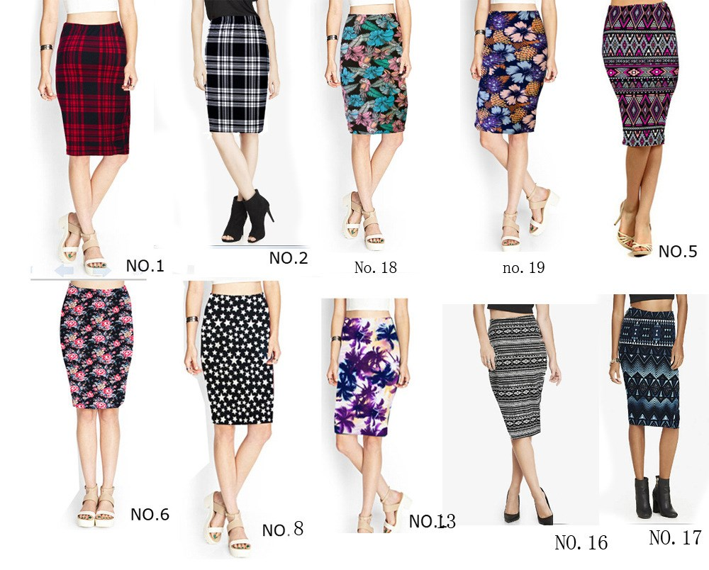 Pencil skirts womens dress юбка  One line collar, high waist and slim dress for ladies