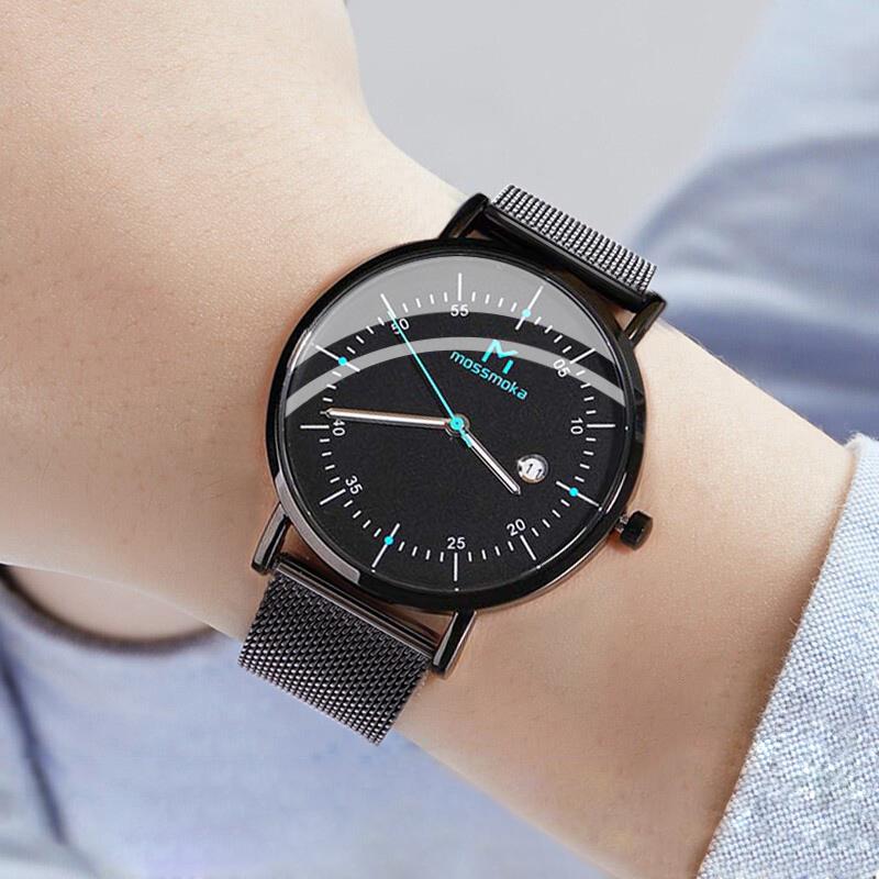 2020新款潮流时尚石英表手表男士学生瑞士超薄防水夜光网红腕表MK