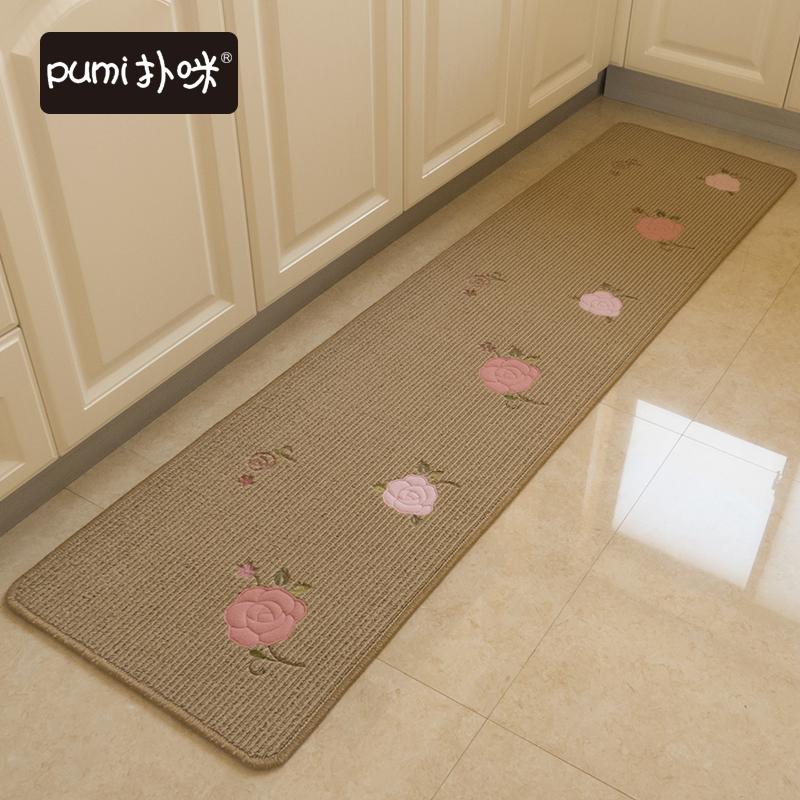 扑咪厨房地垫长条防滑吸水脚垫防水防油家用地毯特价吸水可机洗