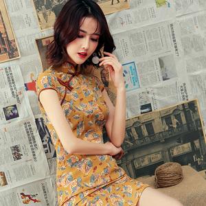 少女改良旗袍2020苏州日常年轻款短款学生中长款中国风祺