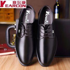意尔康男鞋新款男士真牛皮商务正装内增高皮鞋男尖头婚鞋百搭鞋子