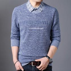 电商A016-1-TB03 P70 冬季新款假两件保暖衬衫男长袖加绒青年衬衣