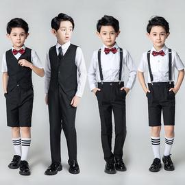 男童小西服儿童钢琴演出服礼服花童主持人婚礼男孩西装马甲套装夏图片
