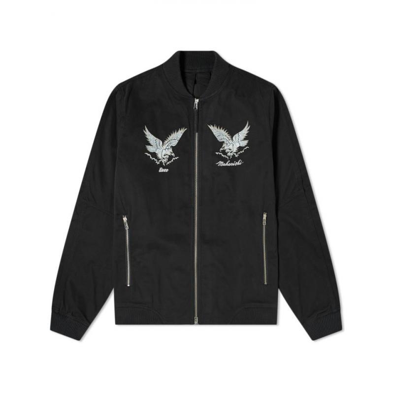 包税代购 Maharishi 男2020春季新品 鹰状标饰有机夹克短外套