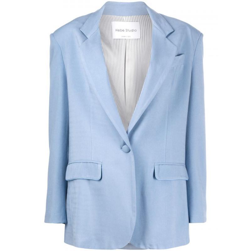 包税代购Hebe Studio女修身单排扣西装夹克短外套