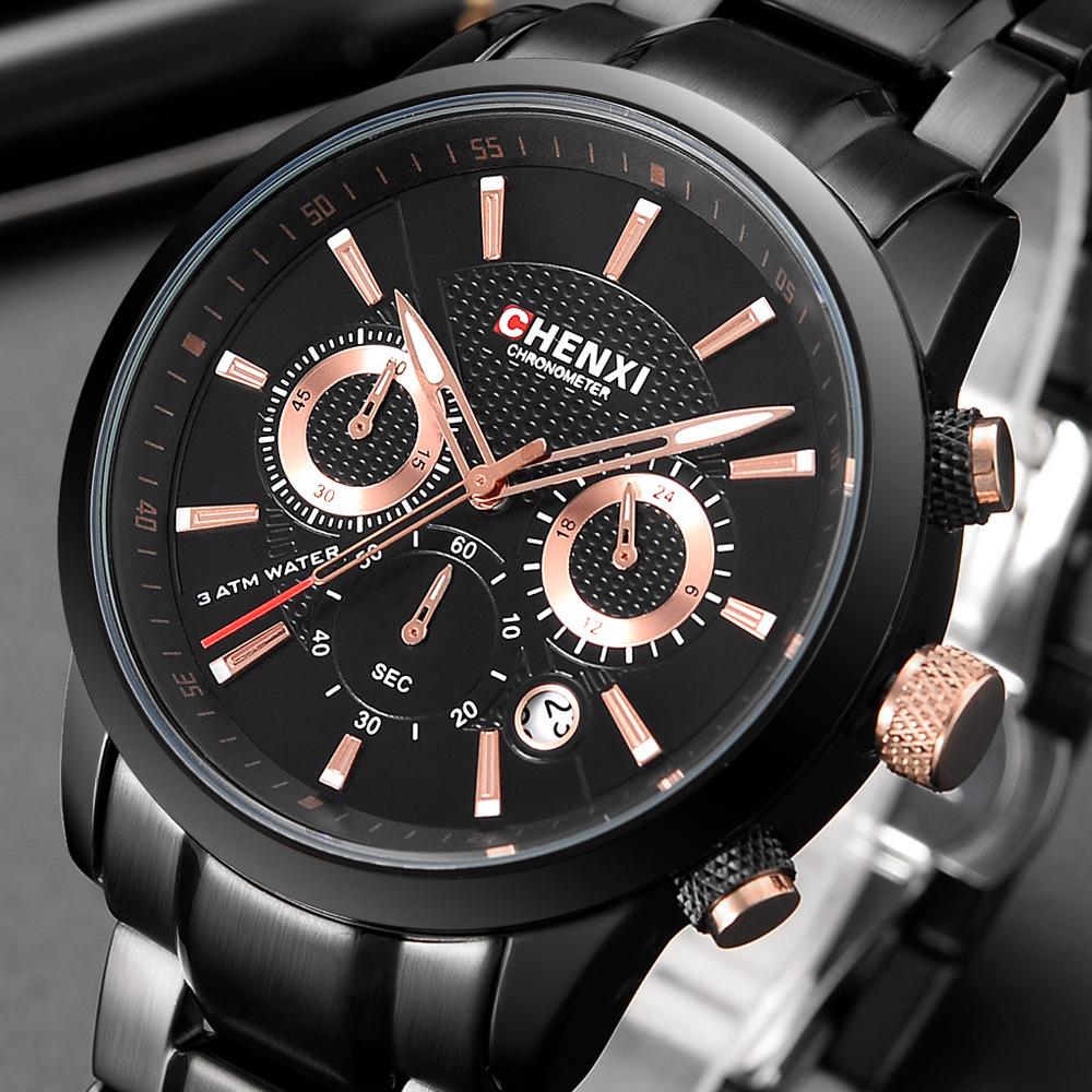 多功能手表晨曦品牌男士手表906 现货批发不锈钢手表男士运动手表