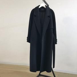 反季清仓2020年新款双面呢子大衣女过膝中长款黑色羊毛呢外套潮范