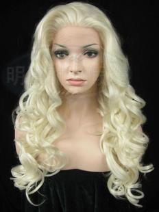Ms European and American original single cartoon show nightclub lace front wigs front lace wig scroll crochet