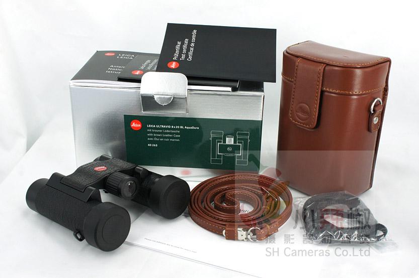 Leica Leica 8X20BL карманный бинокулярный телескоп зеркало Телескоп Leica зеркало приложенный стиль коричневый кожа пакет 40263