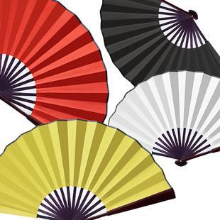一尺空白大红色金色纸扇中国风书法扇男绢扇文玩宣纸扇面折扇男扇