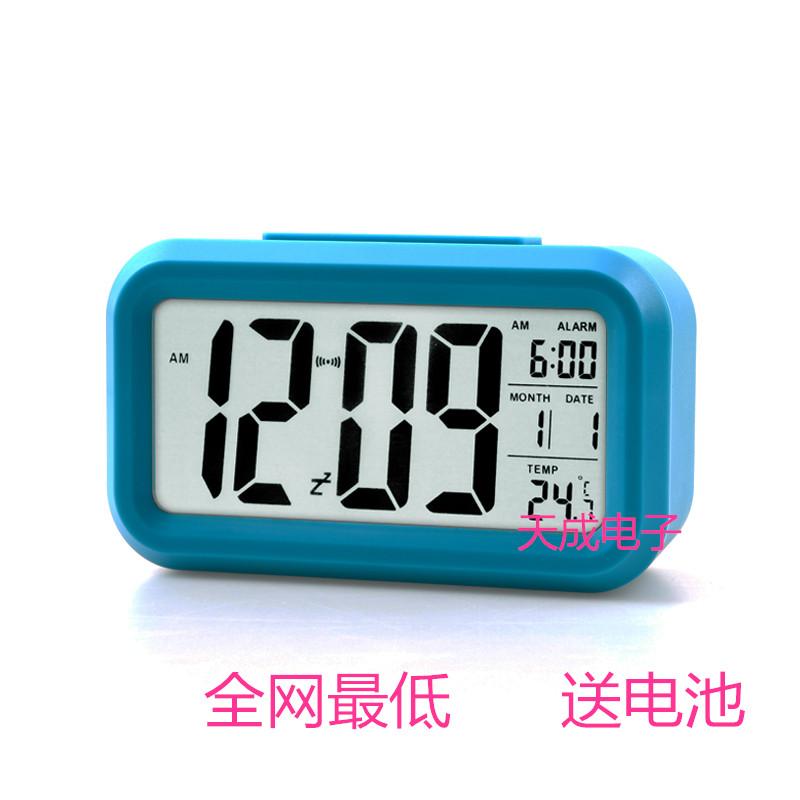 Email немой smart Повтор будильника часов светящимися ленивые люди творческих детей электронные часы прикроватные часы с температурой