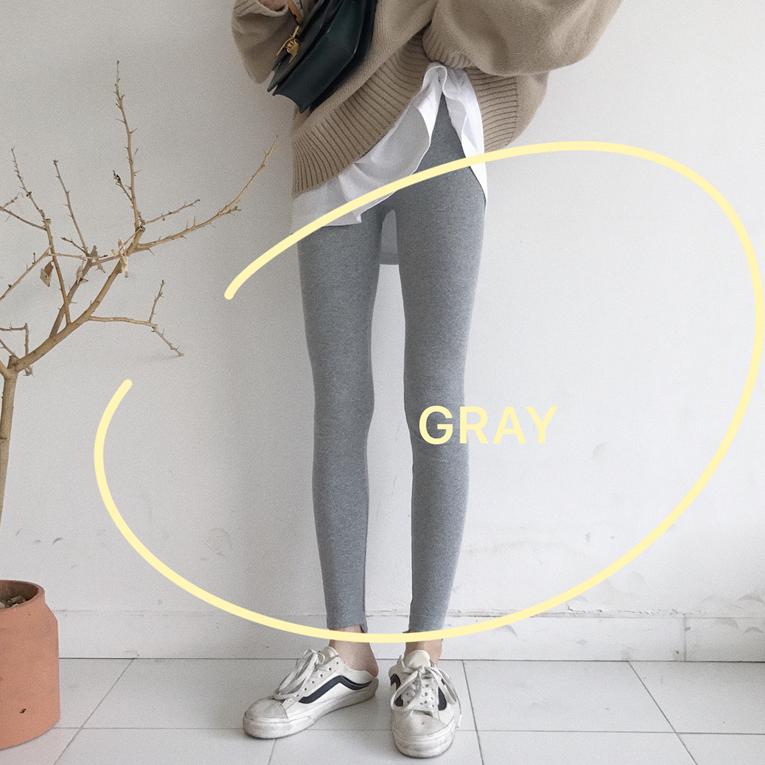 秋冬韩版女装修身显瘦弹力打底裤纯色外穿紧身长裤学生保暖休闲裤