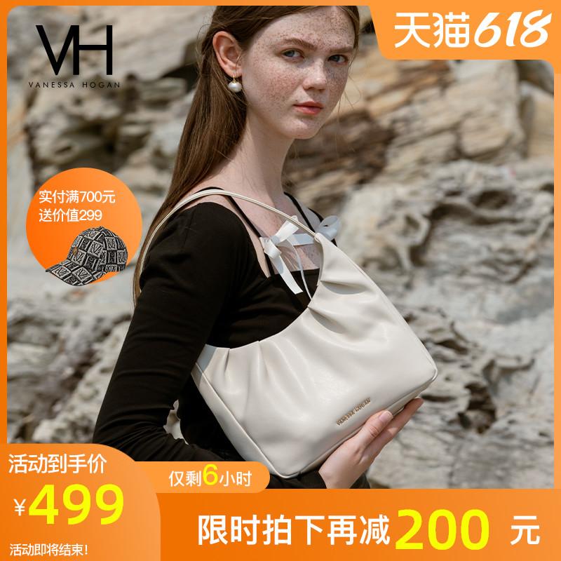 VH包包2021新款真皮休闲女包时尚HOBO贝亚腋下包夏季手提百搭包包