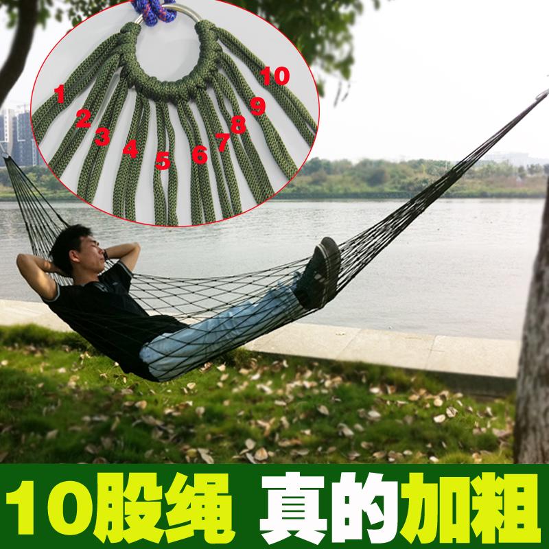 На открытом воздухе мешок гамак жирный нейлон веревка с дерева палка холст гамак моно,парный человек для взрослых ребенок качели