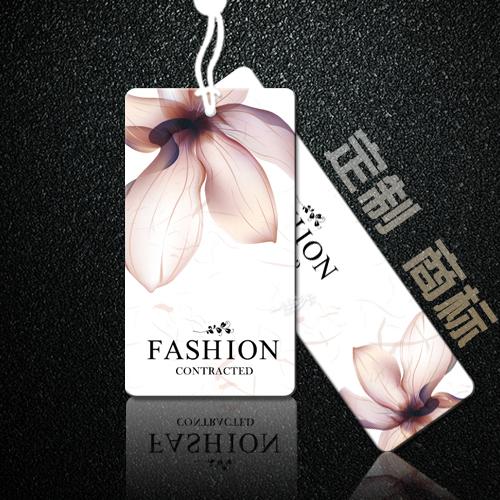 Высококачественный общий одежда тег сделанный на заказ дизайн одежда магазин мужской и женщины загружено сетка этикетка товарный знак вешать зерна индивидуальный печать